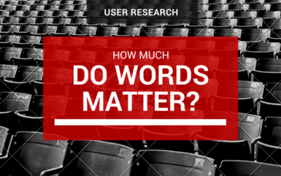 Usability and User Experience Research: How Much Do Words Matter?