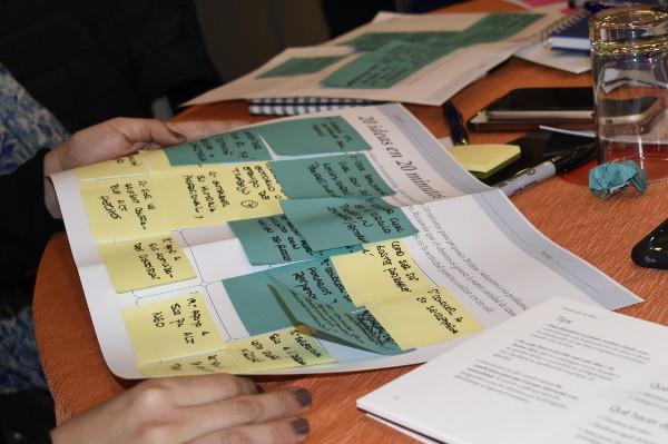 Kit en uso durante un curso de Metodologías Lean.